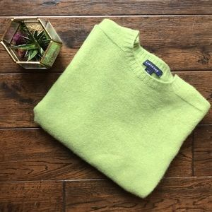 Lands End cashmere blend crew neck sweater MP